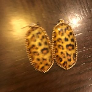 Leopard drop earrings